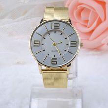 Fashion Stainless Steel Gold Quartz Watches Women Dress Watch Casual watch Luxury Watch relogio feminino Y50*MHM385#M5