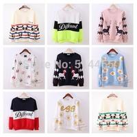 [Amy] free shipping 2014 Autumn and winter new style women hoodies lovely panda women's  fleece warm sweatshirts 21model