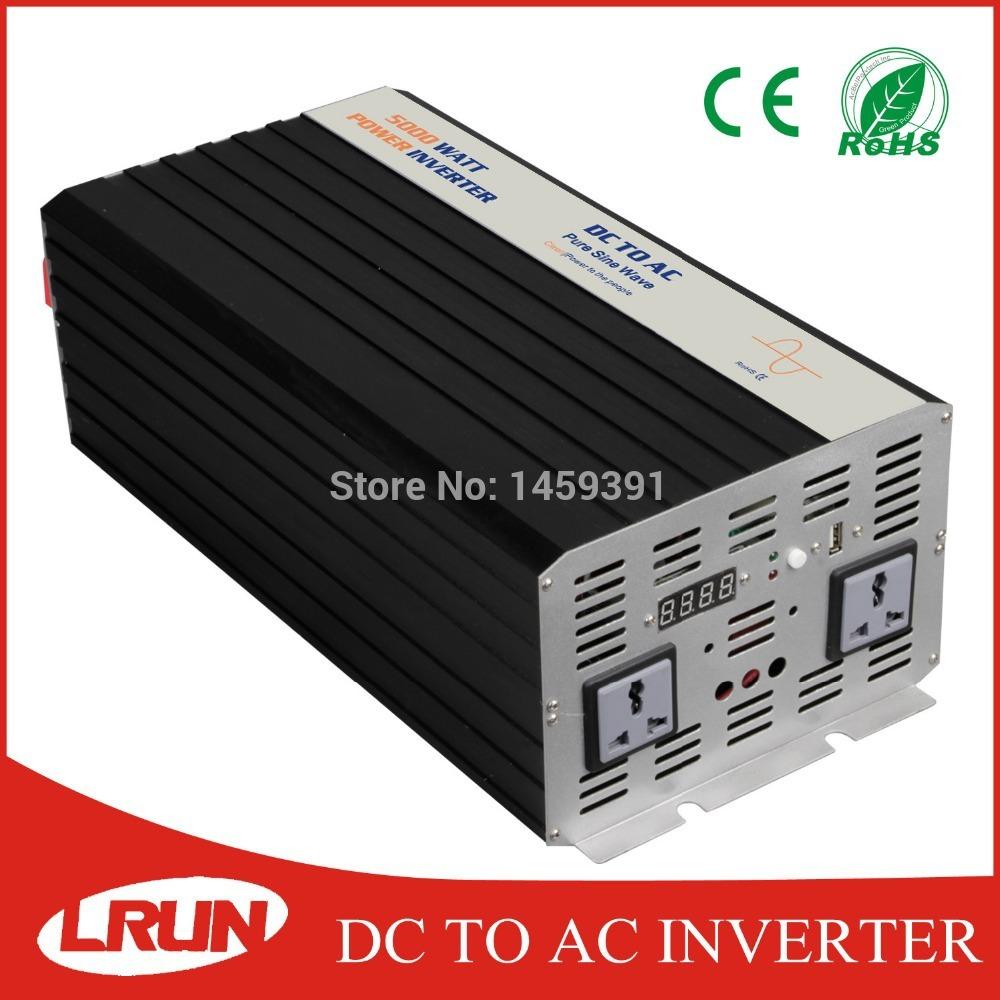 CE&ROHS DC12/24/48V to AC110/220V power inverter 5000w peak power 10000w ture sine wave solar/home/wind/car power inverter(China (Mainland))
