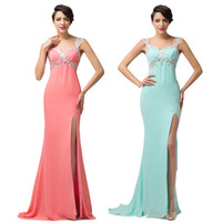 2015 Sexy slim Split Green/Pink Long Evening Dress Formal Gown Sweetheart Prom Women Bodycon Maxi Backless Celebrity Dress 6113