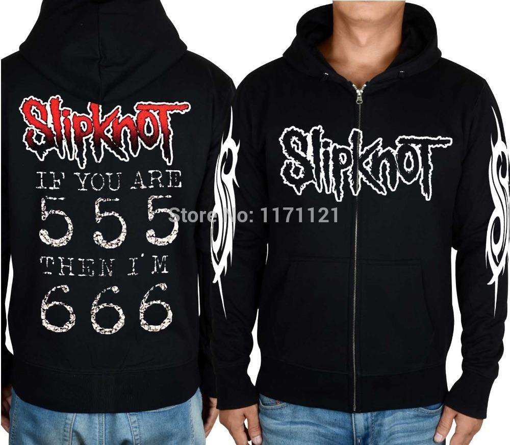 Slipknot Hoodie Heavy Metal Hard Rock música Punk Concert Tour preto grátis frete 100% algodão com capuz(China (Mainland))