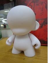 DIY Mini Rotomolded PVC Kid Doll Toy Figure Unpainted Dunny Doll Munny World Doll Toy2R Kidrobot Blank White(China (Mainland))