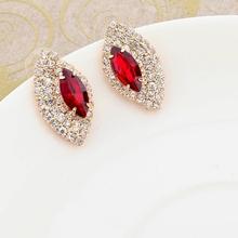 2015 Earings Fashion Jewelry Famous Brand Austrian Crystal Earring Gold Silver Plated Stud Earrings For Women