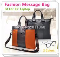 "Newest Messener Handbag For Laptop 13 inch,For Macbook 13.3"", Shoulder Bag For Notebook PC,Nylon+Leather Material,Free Drop Ship"