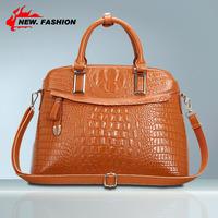 New 2015 Fashion vintage women handbag crocodile pattern genuine leather bag shoulder women messenger bags Drop Shipping NO1010