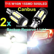 2pcs Xenon White Canbus Error Free Cree Emitter LED T15 921 912 W16W LED Backup Reverse Lights lamps 360 Degrees 5050SMD Car Led(China (Mainland))