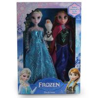 Anna Elsa frozen dolls plush with Olaf genuine Frozen toys kids Girl Birthday/Xmas Gift in retaik box brinquedos meninas bonecas