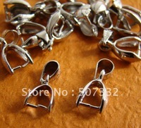 Free Shipping!! 100pcs platinum plated copper pendant Bails Connectors Clasps 10x5mm hole 4mm in WHOLESALE PRICE