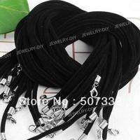 Free Shipping!! 50PCS Black Velvet Necklace String Cord 3mm CC009