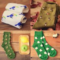 little fox creative socks cotton socks wholesale 200-pin neutral couples 80004