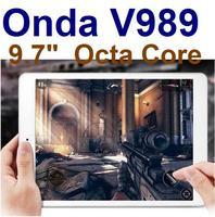 9.7inch Onda v989 Allwinner A80T Octa Core CPU IPS Air Retina 2048*1536 screen 64 Core GPU 2GB/32GB Android 4.4 OS 8.0MP HDMI