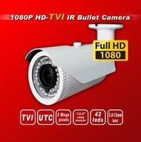 Free shipping HD TVI 1080P 1/2.8 panasonic 2.4M Sensor security TVI camera 42IR 2M 2.8-12mm Lens bullet HD-TVI cctv camera white