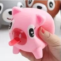 Practical creative gifts wholesale authentic sounding tongue vent pressure doll cute animal toys for children