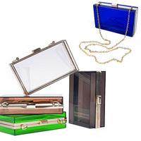 Acrylic Women Handbag Transparent Evening Bags Handbags Women Famous Brands Plastic Box Women Messenger Bags Purses and Handbags