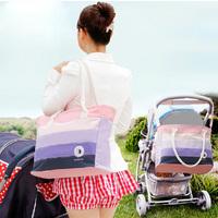 BAG40  Pregnant Mother baby bags fashion 2014 new multifunction large-capacity diagonal Korean version of Rainbow Messenger