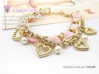 white pink New arrival jewelry fish hooks for bracelet metal bracelet L0553
