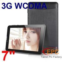 7 inch 3G WCDMA Tablet PC Phone Call MTK 6572 Dual Core 512MB RAM 4GGB ROM GPS Bluetooth WIFI Russian Multi Language 2 SIM card