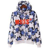 FS-2629 Fall Winter Fashion 2014 Flower Print Women Hoodies Sweatshirts
