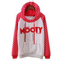 FS-2628 Free Shipping Winter 2014 Women's Warm Hoodies Sweatershirt Loose Pullovers