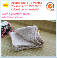 Free shipping 2pcs/lot 115x120cm 100% colored cotton Baby Gauze Baby towel Absorbe baby towel