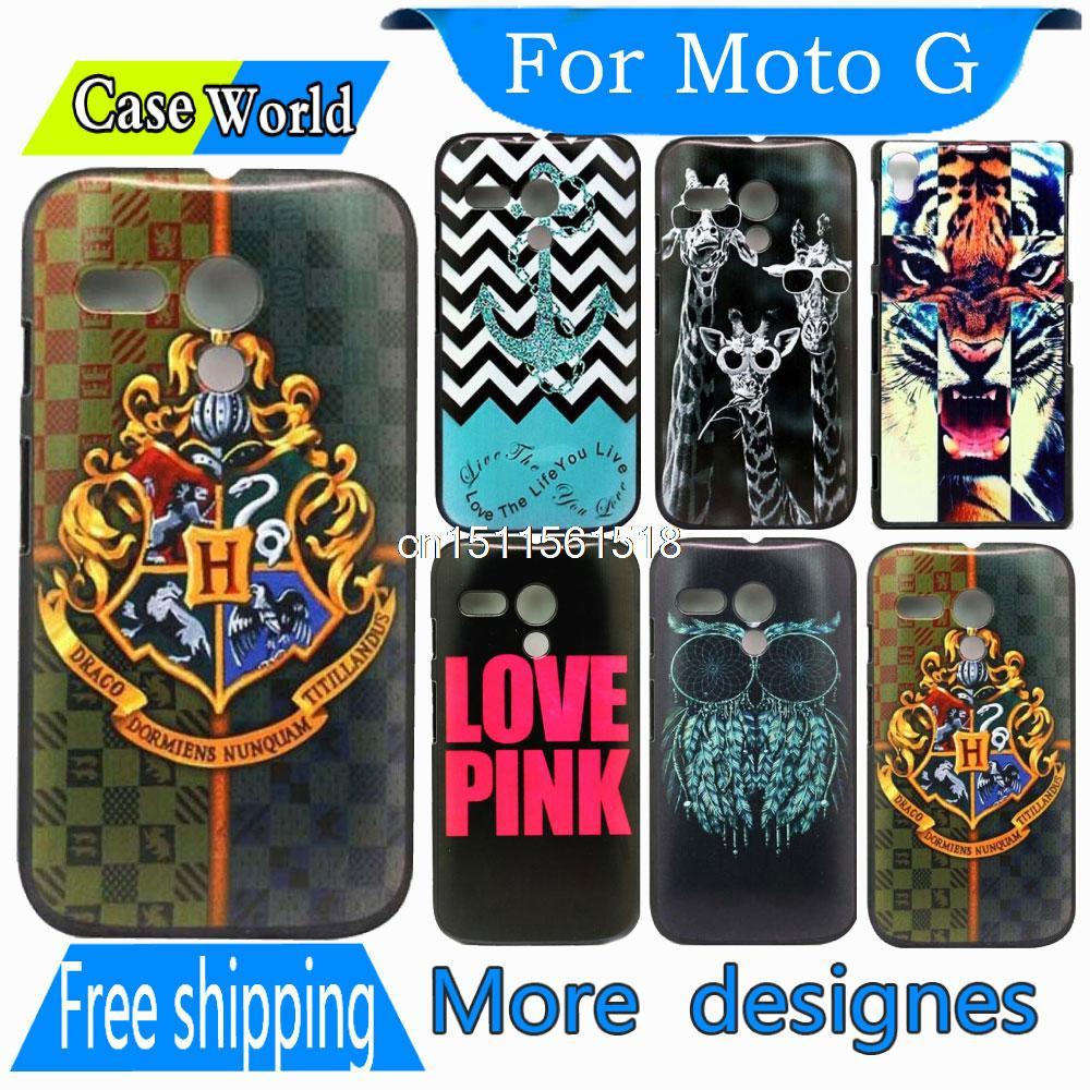 For Motorola Moto G case Harry Potter Cross Pattern Custom Hard Plastic Mobile Phone Case Cover For XT1028 XT1032 XT1031(China (Mainland))