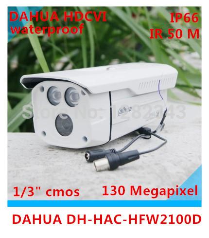 Dahua HAC-HFW2100D 1.3Megapixel HD 720P Waterproof IR HDCVI Mini Bullet Camera Wireless IP Camera High speed DH-HAC-HFW2100D(China (Mainland))