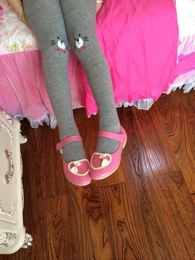 5pcs/lot cat baby pantyhose cotton kids dance tights children's skinny pants free shipping(China (Mainland))