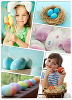 SALE!!! 2015 NEW 30pcs/SETS plastic DIY HANDMADE Easter Day EggS Mesh bags High quality simulation of eggs 1pc hole 4.5x5.5cm