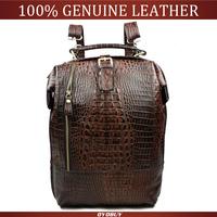 Women Vintage Backpacks Fashion Crocodile Casual  Real Genuine Leather Cowhide Backpacks Shoulder Bags For Women
