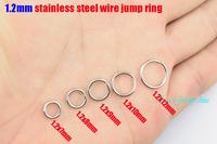 1.2x7mm/1.2x8mm/1.2x9mm/1.2x10mm/1.2x12mm jump ring stainless steel split rings necklace accessories chains DIY parts 500pcs