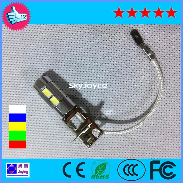 2 PCS Auto SAMSUNG 10-SMD5630 H3 LED Bulbs Driving Fog Lights High Beam White/Blue/Yellow/Red DC12V LED fog lamp bulb auto drl(China (Mainland))