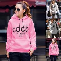 2014 New coco Swearshirt Printed Women lulu Hoodie Women Hoody Sweatshirt Hooded Outerwear Tops Pullover Casual Sport Suit Women