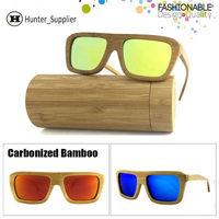 Fashion Carbonized Bamboo & Wood Sunglasses Men Polarized Revo Coating Lens Oculos De Sol outdoors Bambu glasses ESBM005