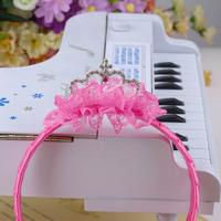 Child hair accessory  Silk yarn baby hair accessory crown hairbands piece sparkling