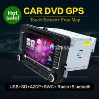 2din Car GPS DVD For Volkswagen VW Skoda POLO PASSAT CC JETTA TIGUAN TOURAN SHARAN CADDY GOLF 5 6 7 4 Fabia Superb  Radio