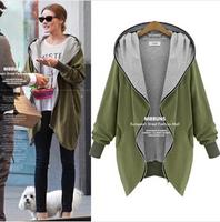 Plus Size Winter Coat Women 2014 European Fashion Zipper Fly Cotton Outerwear Casual Long Sleeve Parkas Casual Down Coat 4XL 5XL