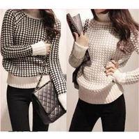 2014 New Autumn Winter  high collar long sleeve Women sweater  Thick Sweater Warm Jumper Outerwear Pollovers