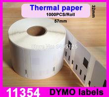 2014 Hot Sale Sale 20 X Rolls Dymo Compatible Labels 11354 1354 Multipurpose 57mm 32mm Label Writer 450 Turbo for Seiko Slp Pro