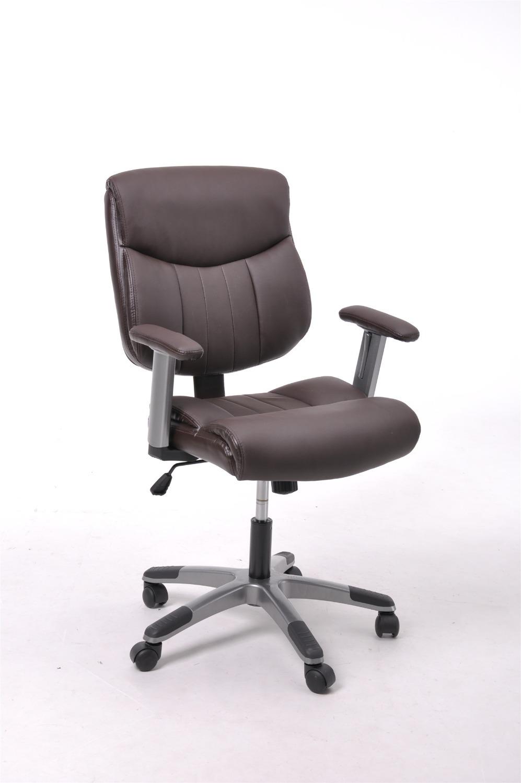 Brown alta olhar de couro executivo escritório computador cadeira giratória SKU : DELLA-BROWN(China (Mainland))