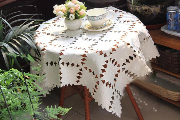 Discounted quality satin openwork embroidery hand washing Universal TV computer cover towel tablecloth(China (Mainland))