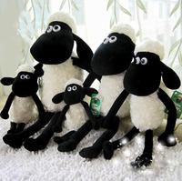 2 pcs 25cm Cute Shaun the sheep lamb plush toys wholesale Christmas gift bag sends kids,Free shipping, Best gift,X931