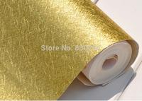 Gold foil wallpaper PVC, Modern wall paper for TV background