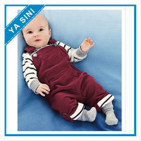 2014 free shipping Retail 1 set Top Quality! baby boy T-shirt+overalls 2 pcs/suits infant casual clothing sets in stock