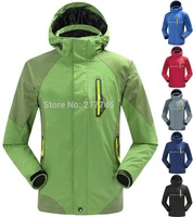 High Quality 2014 Brand Fashion 3in1 Two-piece Men's Climbing Sports Coat Winter Outdoor Hiking Waterproof Charge Clothes Jacket