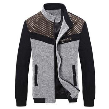 Корейский мода человек осень куртки Большой размер M-3XL отпечатано лоскутная стиль ...