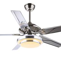 Fan lamp changing modern fashion 48 Inch iron leaf electric fan ceiling light