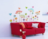 Flowers blossoming decoration children's room wall stickers Girls Room Wall Sticker Decal Poster home decor
