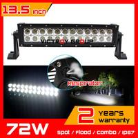 13.5 inch 72w LED Light Bar 12V 24V IP67 SUV Truck  ATV Offroad Fog Light LED Worklights External Light Save on 120w