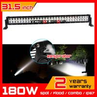 31.5 inch 180w LED Light Bar 12v 24v IP67 SUV Truck Tractor ATV Offroad Fog Light LED Worklight External Light Save on 240w