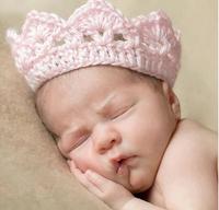 10pcs/lot Children's crown headdress baby headband baby hair band head flower crochet hat Crown Christmas Gift Photograph prog